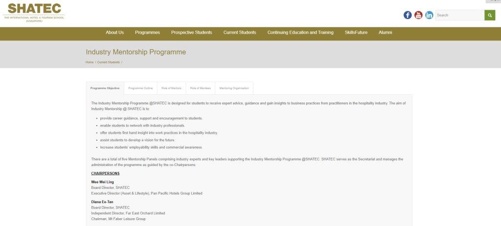Shatec Top Mentorship Programmes in Singapore