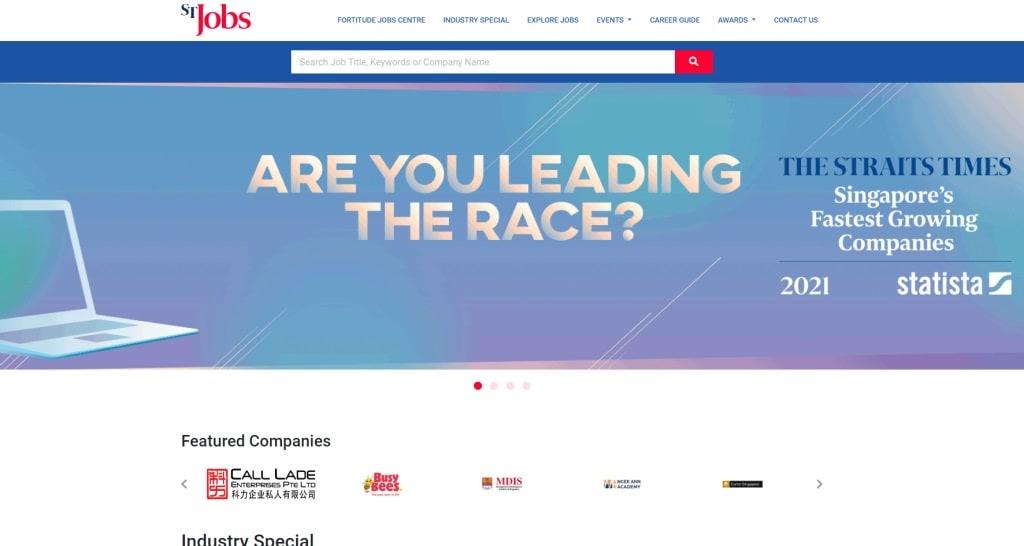 ST  Jobs job posting site singapore