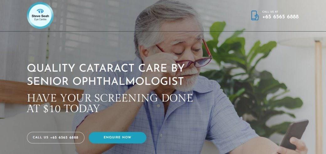 Steve Seah Top Cataract Surgery in Singapore