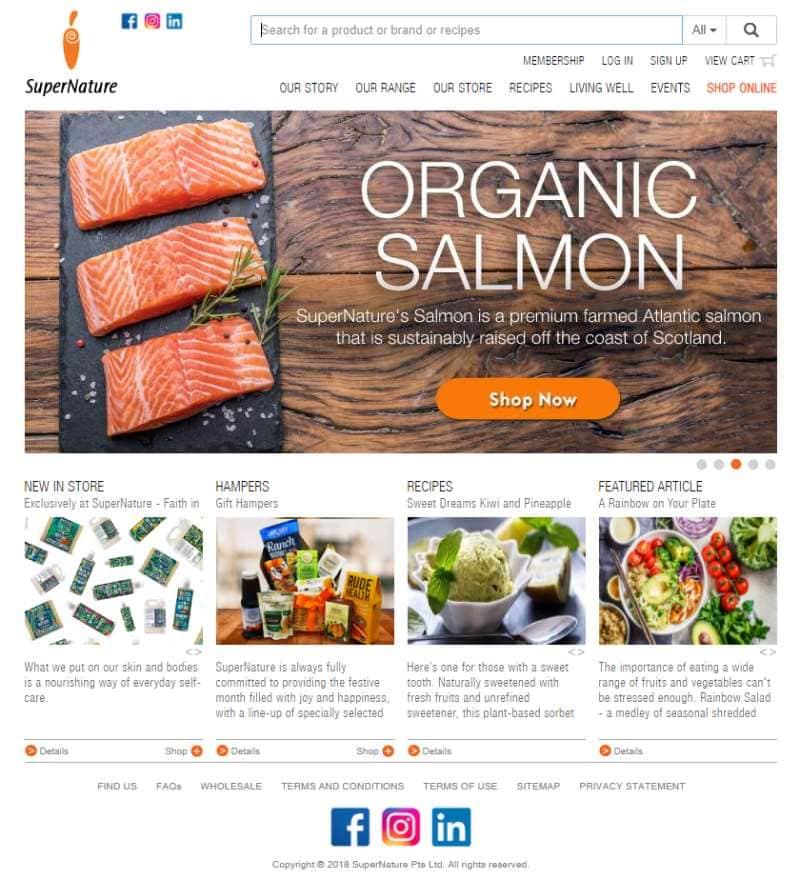 SuperNAture Top Organic Food Markets In Singapore