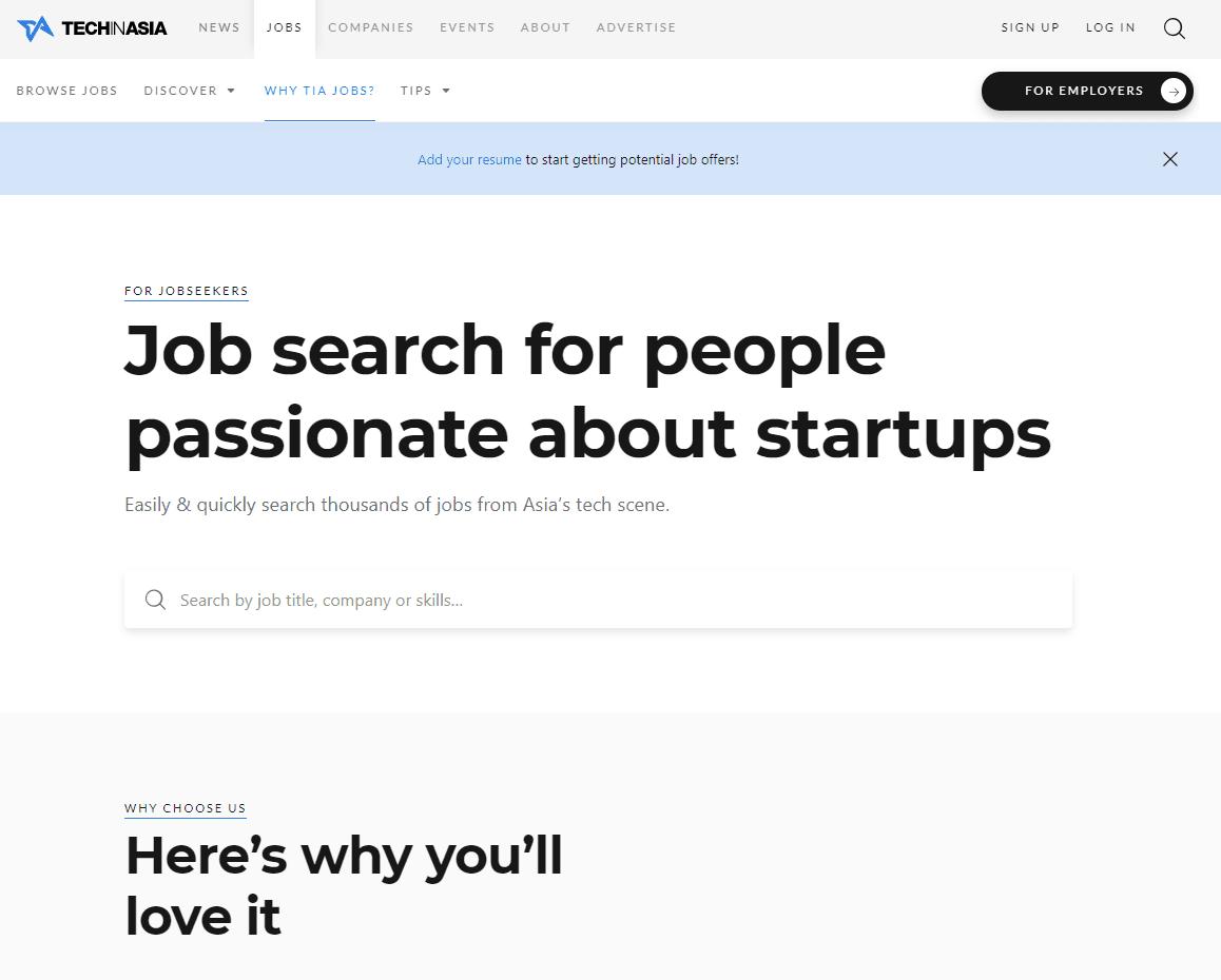 TechInAsia Job Posting Sites SG