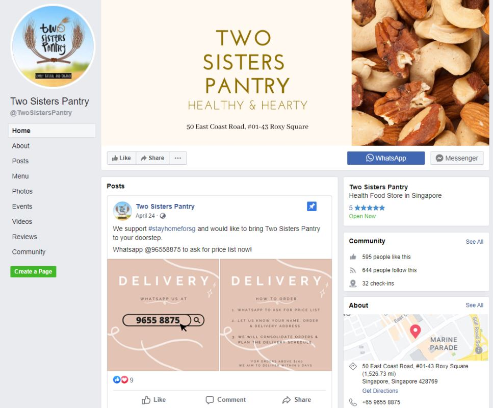 Two Sisters Pantry Top Organic Food Markets In Singapore