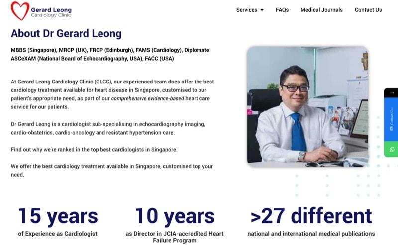 best cardiologist gerard leong cardiology clinic