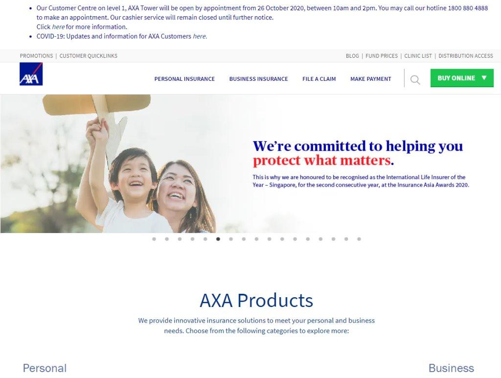 AXA Top Life Insurance in Singapore