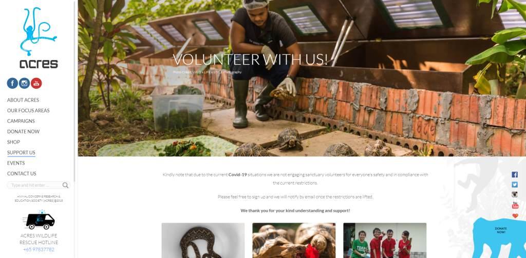 Acres Top Volunteering Opportunities in Singapore
