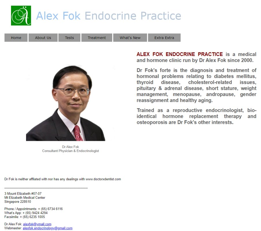 Alex Fok Top Endocrinologists in Singapore