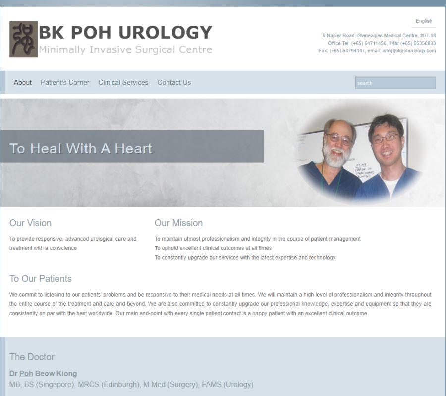 BK Poh Urology Top Urologists in Singapore