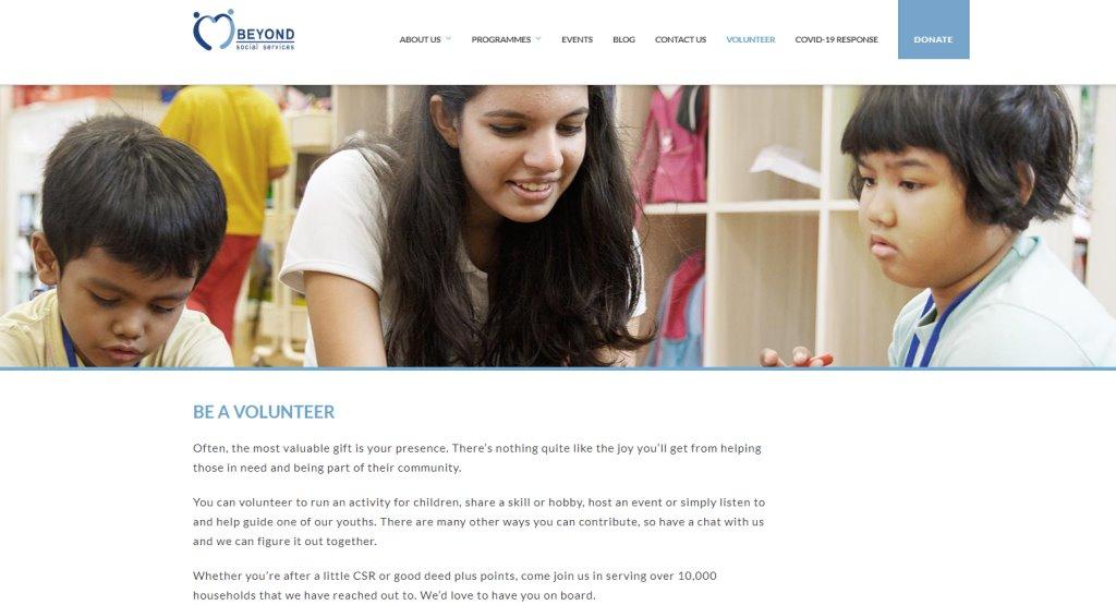 Beyond Top Volunteering Opportunities in Singapore