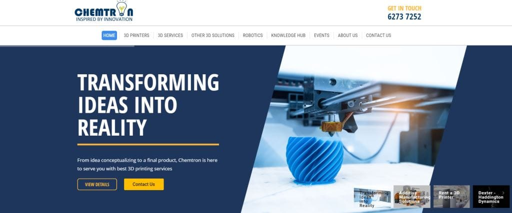 ChemTron Top 3D Printing Services Singapore