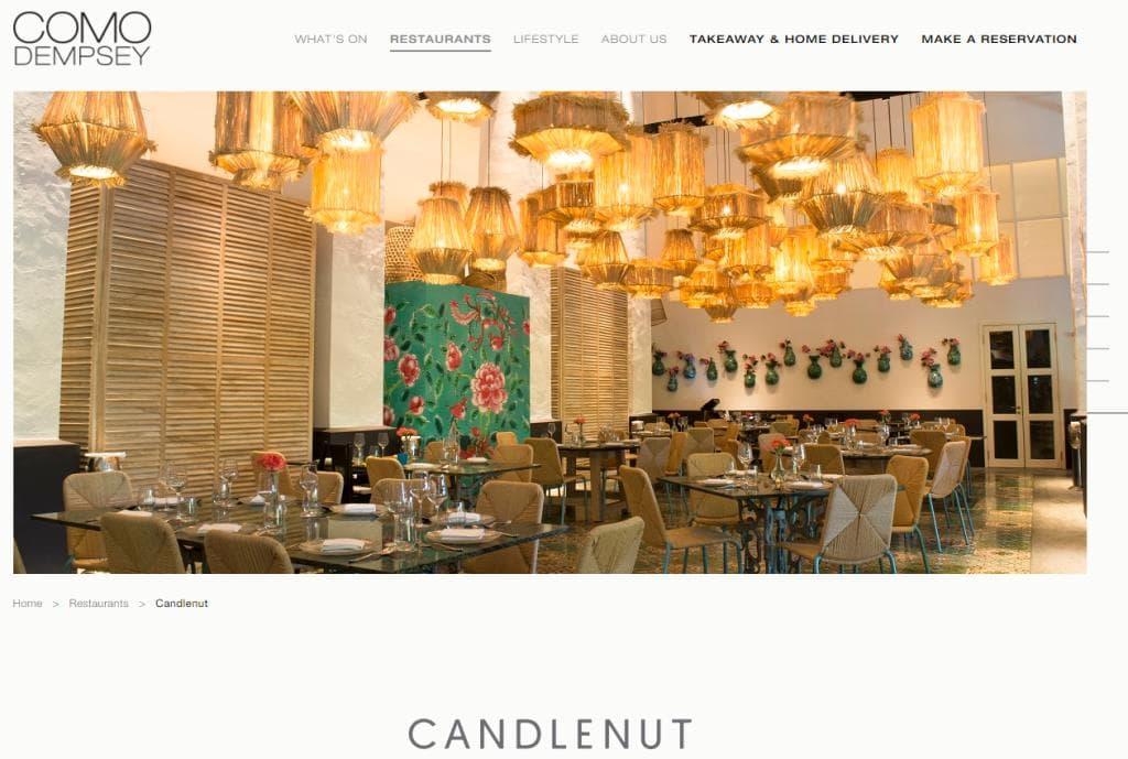 Como Dempsey Top Wedding Restaurants in Singapore