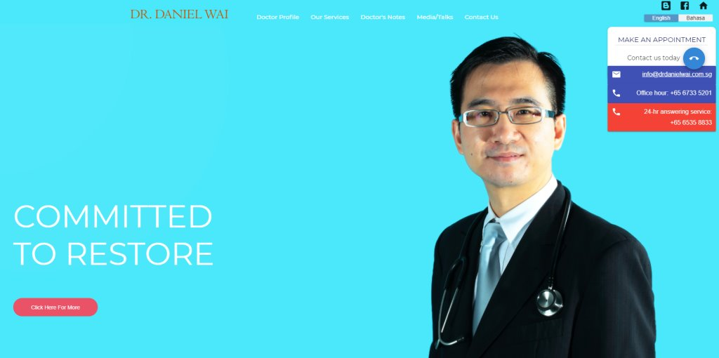Dr. Daniel Wai Top Endocrinologists in Singapore