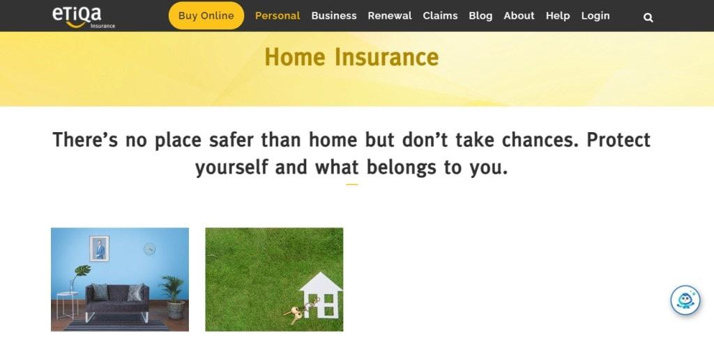 Etiqa Top Home Insurance Providers in Singapore