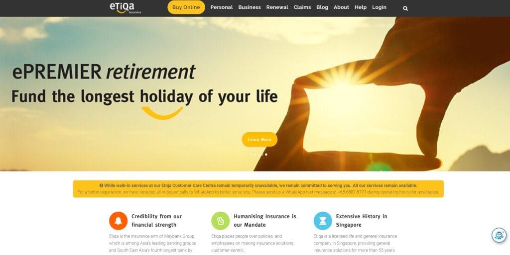 Etiqa Top Life Insurance in Singapore
