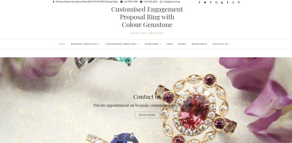 Gioia Top Custom Jewellery Stores in Singapore