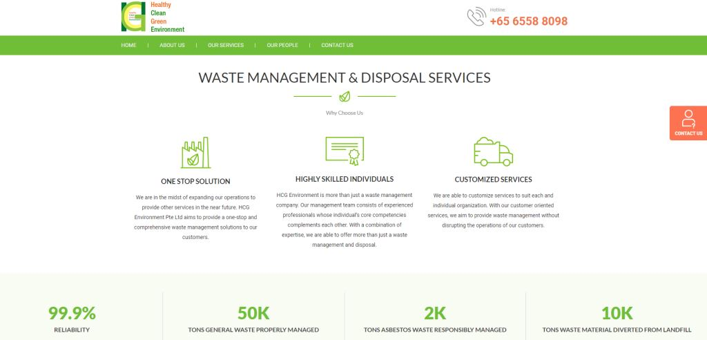 HCG Enviro Top Waste Management Services in Singapore