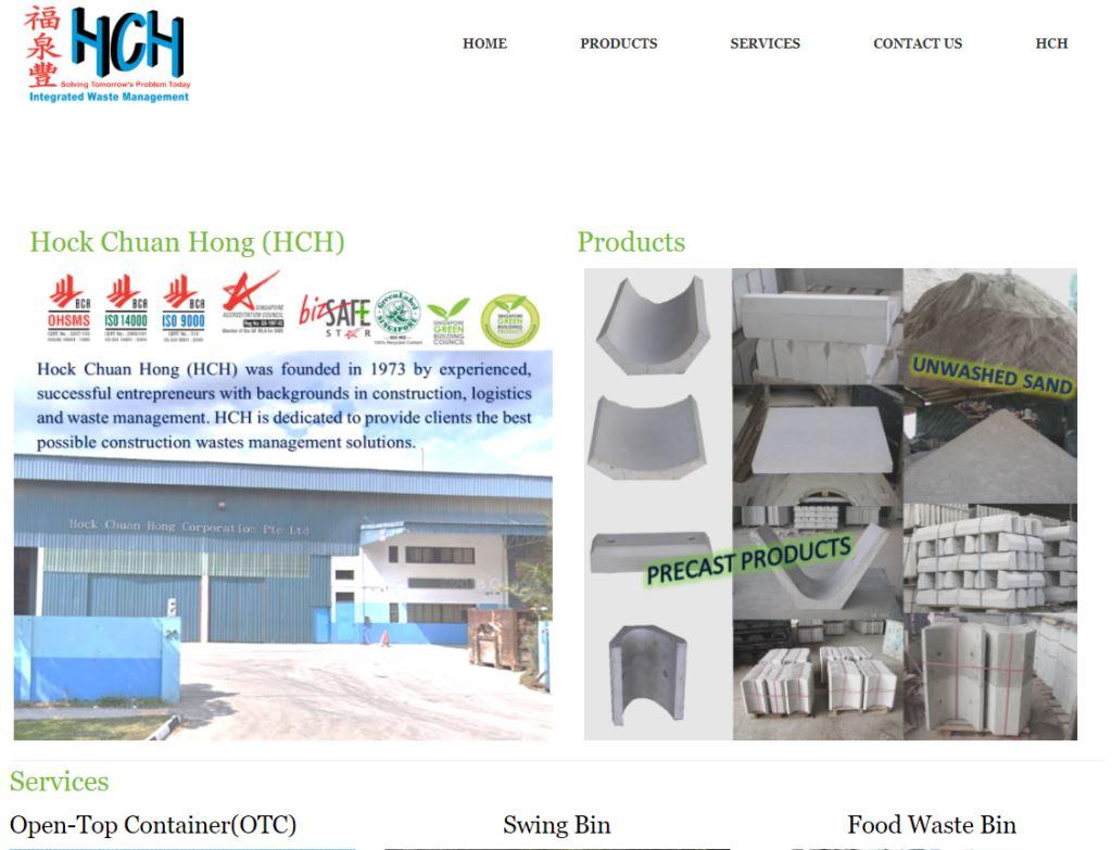 HCH Waste Top Waste Management Services in Singapore
