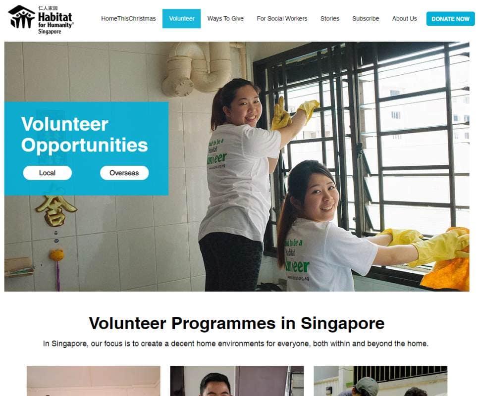 Habitat Top Volunteering Opportunities in Singapore