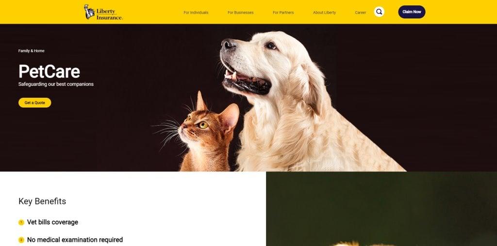 Liberty Insurance Top Pet Insurance Plans in Singapore