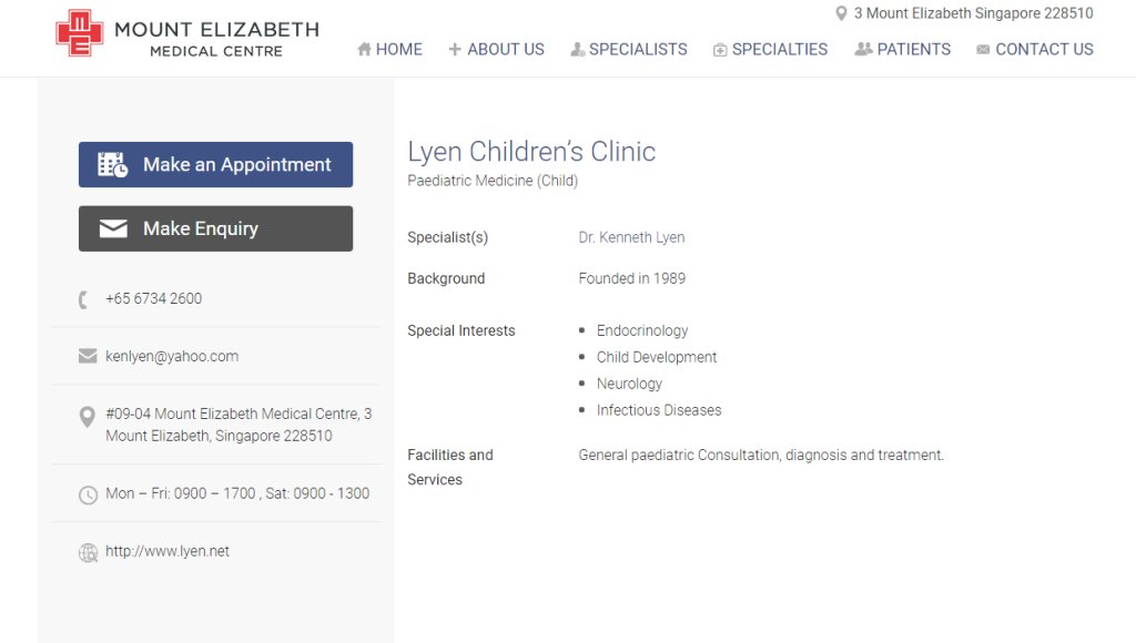 Mount Elizabeth Medical Clinic Top Endocrinologists in Singapore