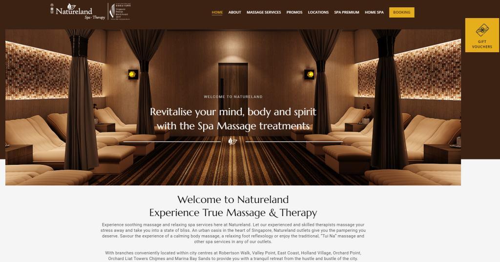 Natureland Top Body Scrub Spas in Singapore