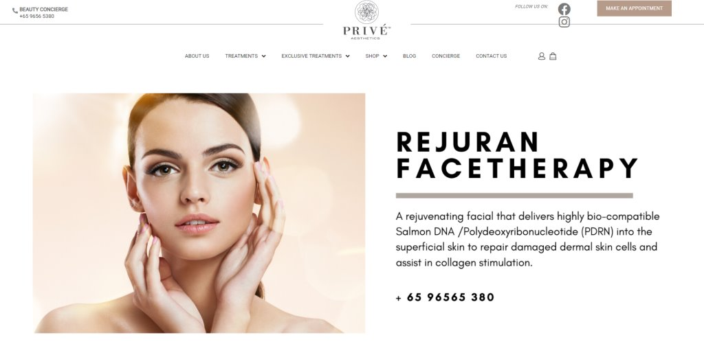 Prive Aesthetics Top Slimming Centres in Singapore