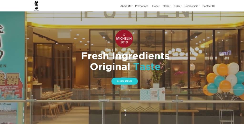 Putien Top Michelin Featured Restaurants in Singapore
