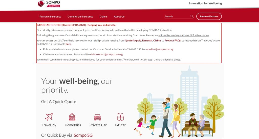 Sompo Top Personal Accident Insurance Providers in Singapore