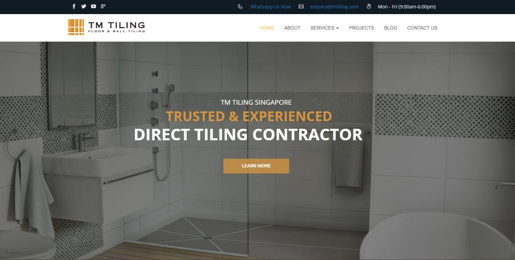 TM Tiling Top Toilet Renovation Services in Singapore