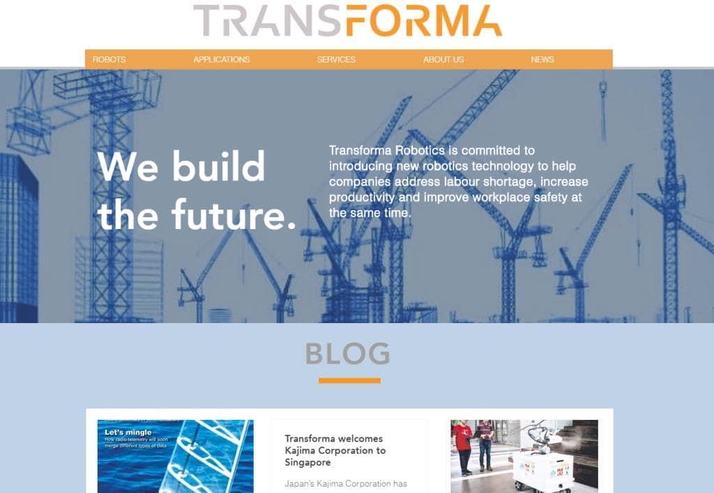 Transforma Robotics Top Robotics Companies in Singapore