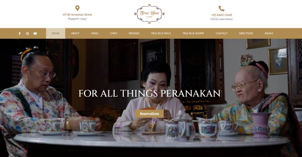 True Blue Cuisine Top Michelin Featured Restaurants in Singapore