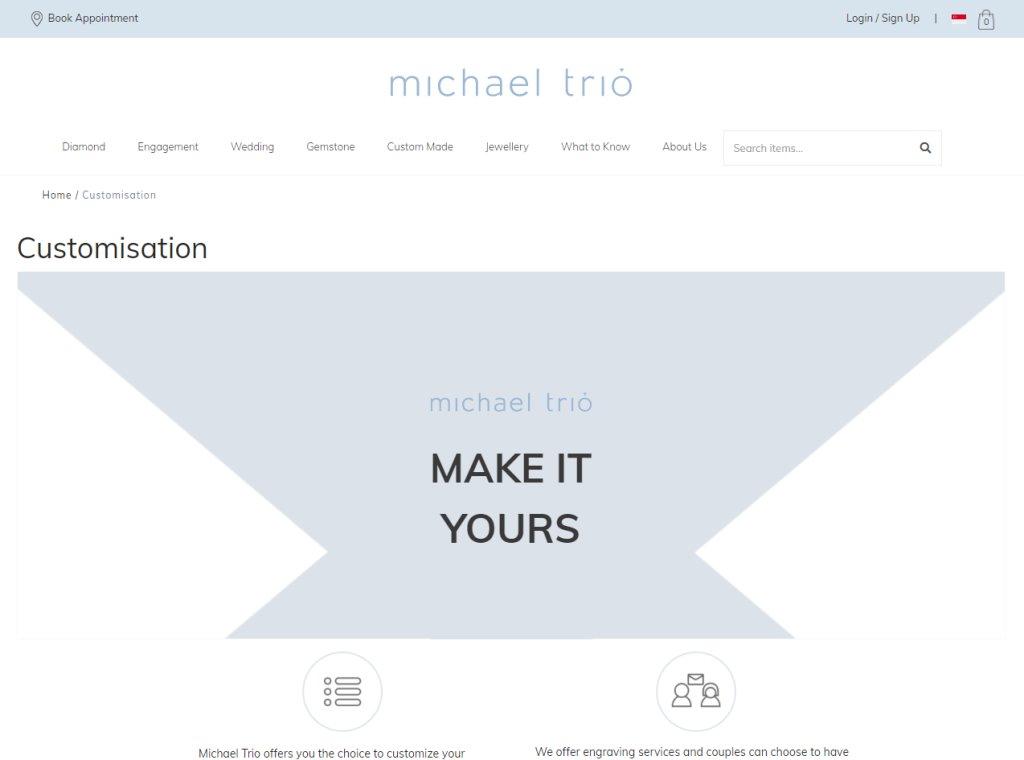 michael Trio Top Custom Jewellery Stores in Singapore