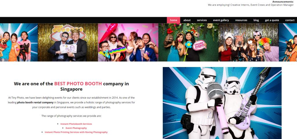 tinyphoto Top Wedding Photobooth Services in Singapore