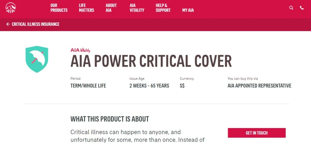 AIA Top Critical Illness Insurance Providers in Singapore