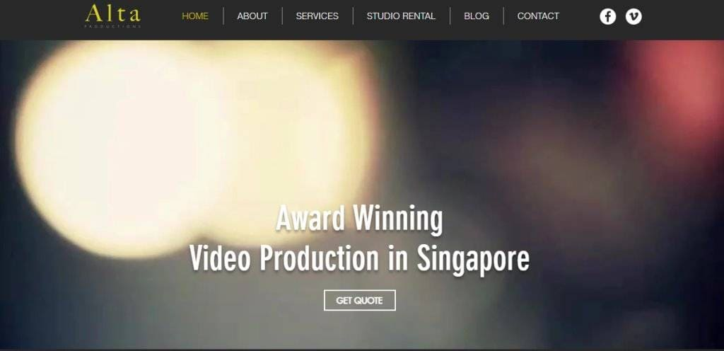 Alta Top Video Editing Companies in Singapore