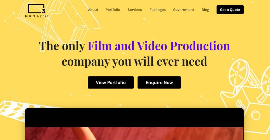 Big 3 Media Top Video Editing Companies in Singapore