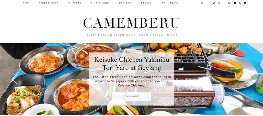 Camemberu Top Food Blogs in Singapore
