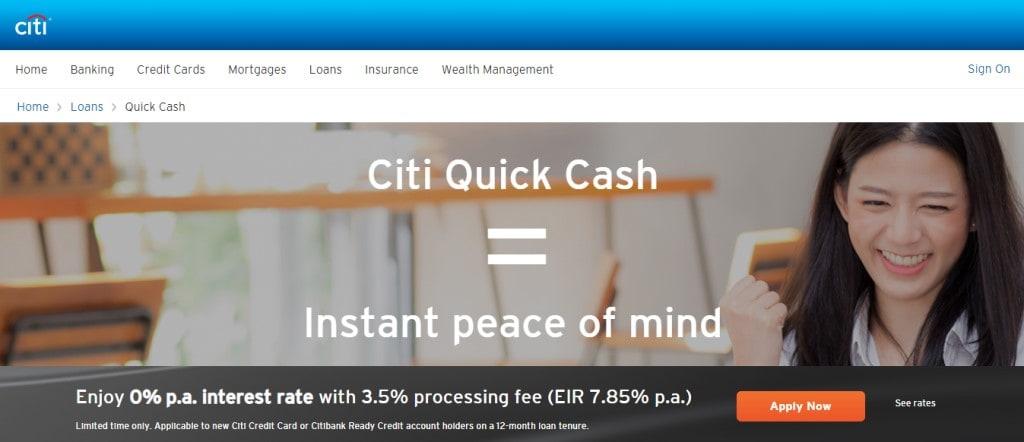 Citi Bank Top Personal Loan Providers in Singapore