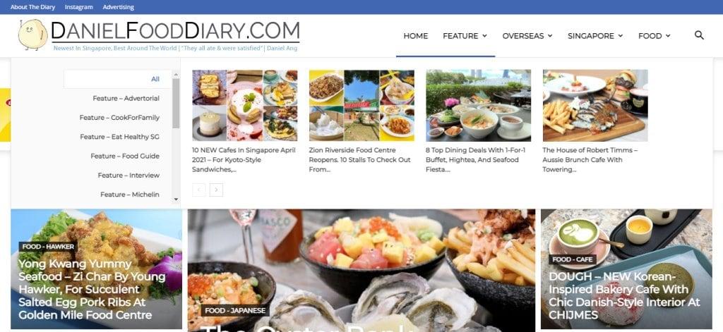 Daniel Food Diary Top Food Blogs in Singapore