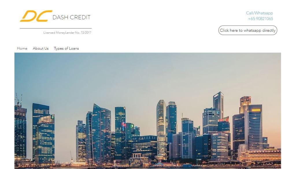 Dash Credit Top Personal Loan Providers in Singapore