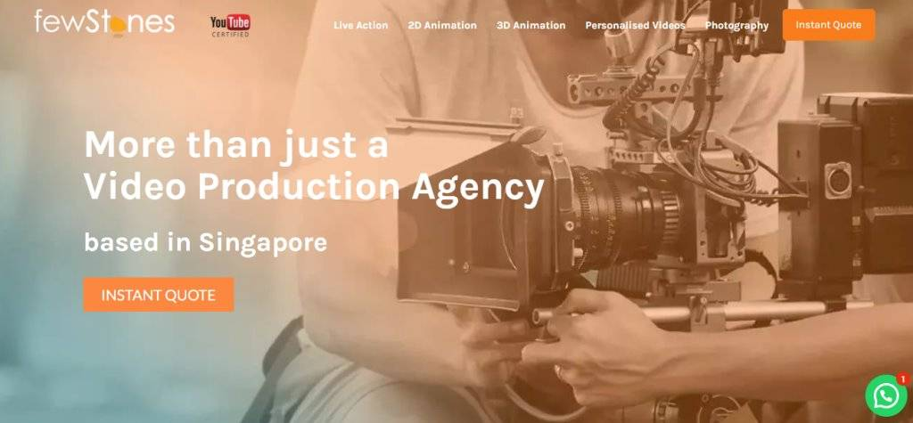 Few Stones Top Video Editing Companies in Singapore