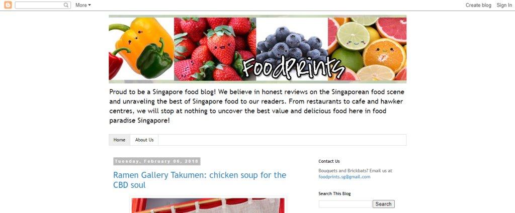 Food Printz Top Food Blogs in Singapore