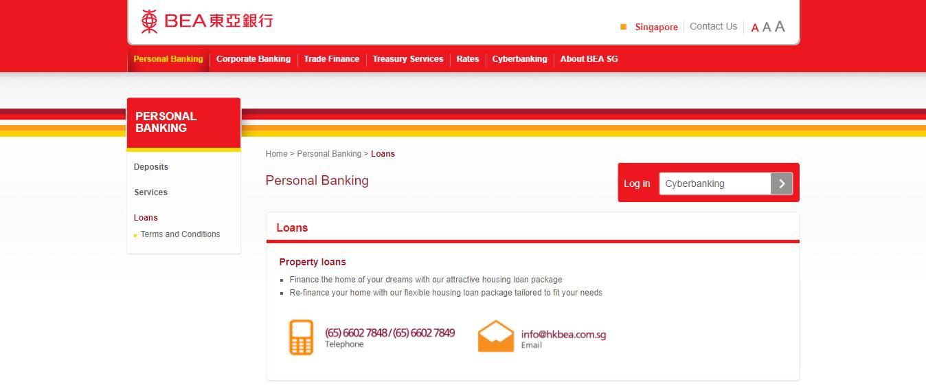 HK BEA Top Home Loan Providers in Singapore