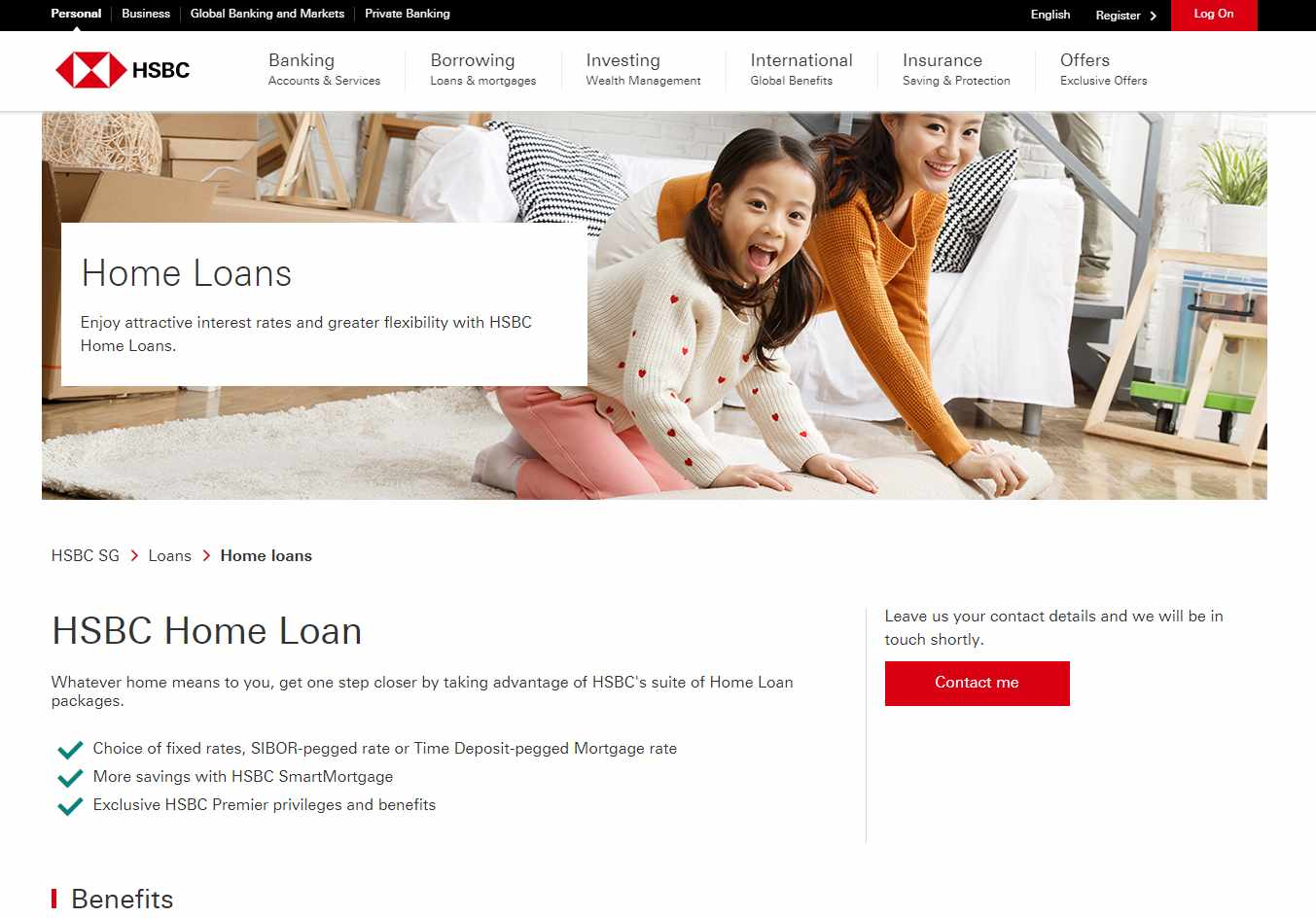 HSBC Top Home Loan Providers in Singapore