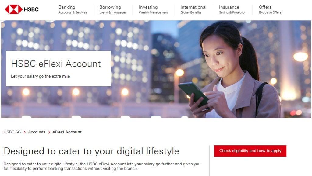 HSBC eFlexi Top Savings Accounts in Singapore