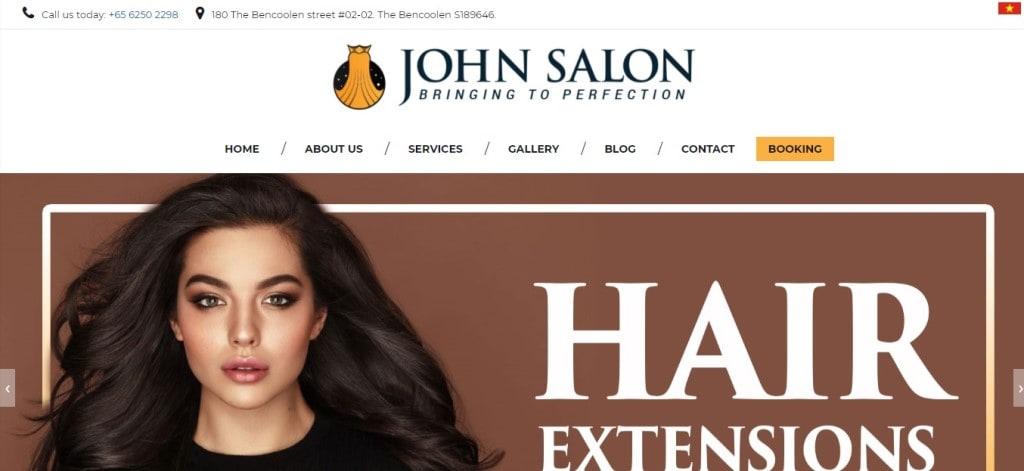 John Salon Top Hair Extension Salons in Singapore