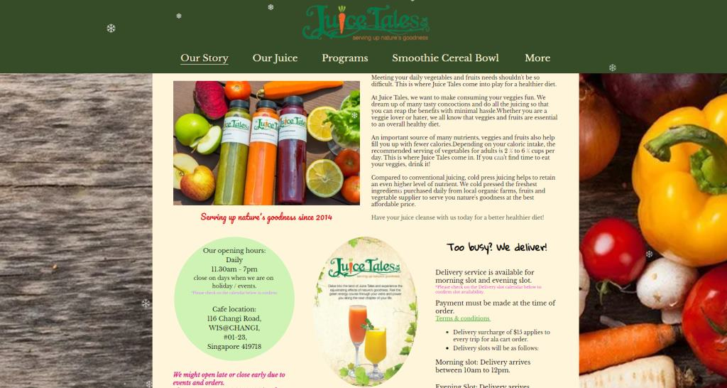 Juice Tales Top Fruit Juice Bars in Singapore