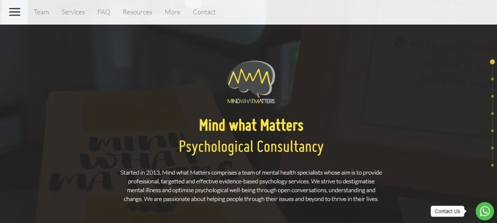 Mind what Matters Top Psychologists in Singapore