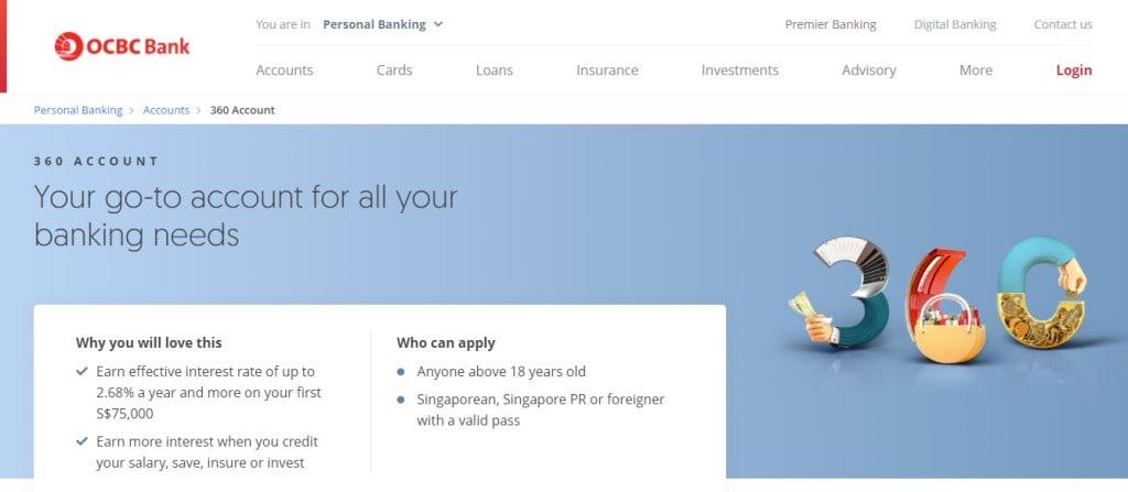 OCBC 360 Top Savings Accounts in Singapore
