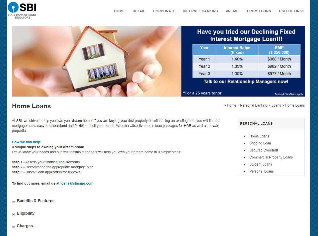 SBI Top Home Loan Providers in Singapore