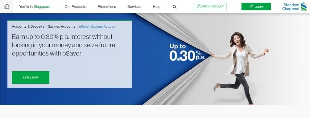 Standard Chartered eSavers Top Savings Accounts in Singapore